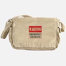 Firefighter Warning-Girlfrien Messenger Bag