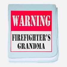Firefighter Warning-Grandma baby blanket