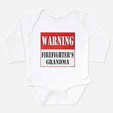 Firefighter Warning-Grandma Long Sleeve Infant Bod