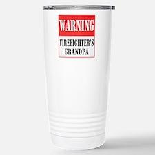 Firefighter Warning-Grandpa Travel Mug