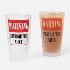 Firefighter Warning-Niece Drinking Glass