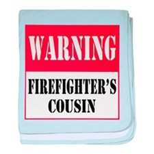 Firefighter Warning-Cous baby blanket