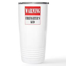 Firefighter Warning-Kid Travel Mug