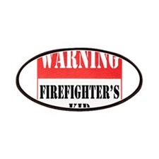 Firefighter Warning-Kid Patches