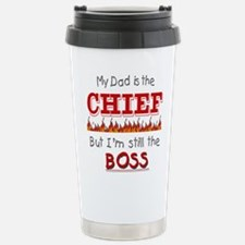 Dad is CHIEF Stainless Steel Travel Mug