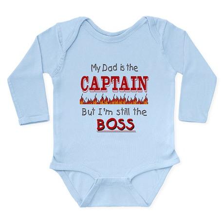 Dad is CAPTAIN Long Sleeve Infant Bodysuit