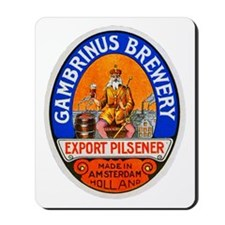 Holland Beer Label 8 Mousepad