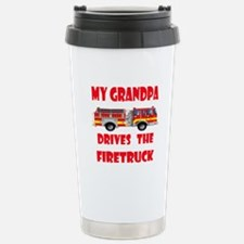 Drives the Firetruck-Grandpa Travel Mug