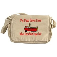 Firefighter Saves Lives-Papa Messenger Bag