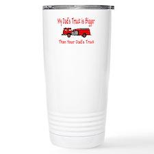 Firetruck Daddy Travel Coffee Mug