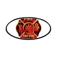 Maltese Cross Red Flame Patches