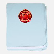 Maltese Cross Red Flame baby blanket