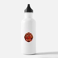 Maltese Cross Red Flame Water Bottle