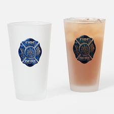 Maltese Cross-Blue Flame Drinking Glass