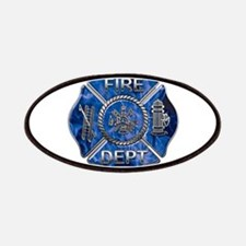 Maltese Cross-Blue Flame Patches