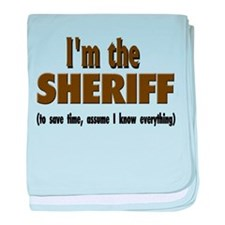 I'm the Sheriff baby blanket