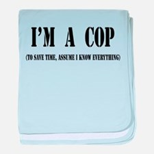 I'm A Cop- Light baby blanket