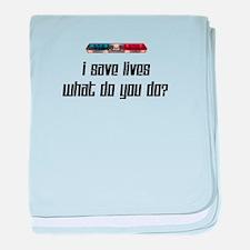 I Save Lives-Light baby blanket