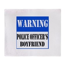 Police Warning-Boyfriend Throw Blanket
