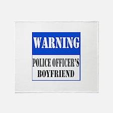 Police Warning-Boyfriend Throw Blanket