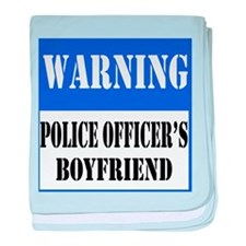 Police Warning-Boyfriend baby blanket