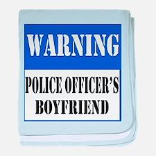 Police Warning-Boyfriend baby blanket