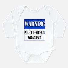 Police Warning-Grandpa Long Sleeve Infant Bodysuit