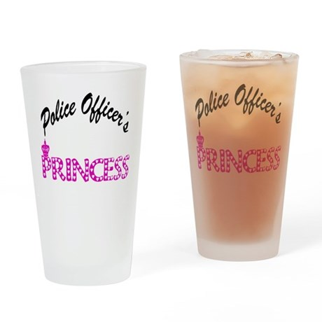 Police Officer's Princess Drinking Glass