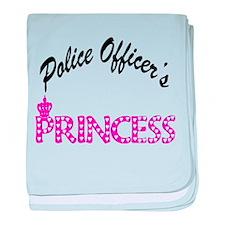 Police Officer's Princess baby blanket