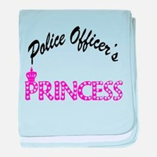 Police Officer's Princess baby blanket
