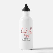 I Love My Cop Water Bottle