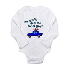 Gets the bad guys- uncle Long Sleeve Infant Bodysu