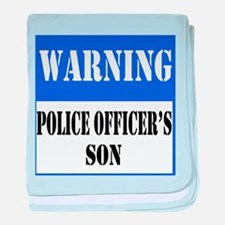 Police Warning-Son baby blanket