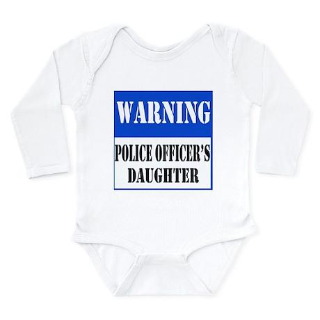 Police Warning-Daughter Long Sleeve Infant Bodysui