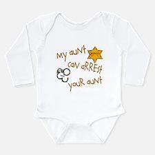 Sheriff-My Aunt Long Sleeve Infant Bodysuit