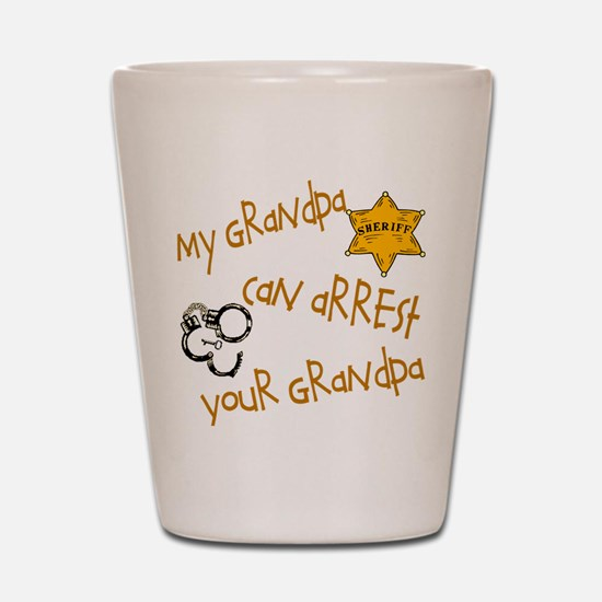 Sheriff-My Grandpa Shot Glass