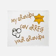 Sheriff-My Grandpa Throw Blanket