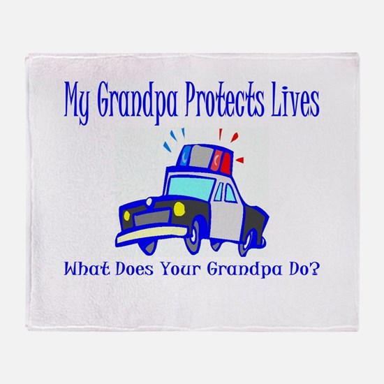 Police Protects Lives-Grandpa Throw Blanket