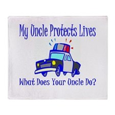 Police Protects Lives-Uncle Throw Blanket