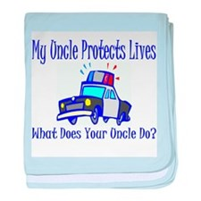 Police Protects Lives-Uncle baby blanket