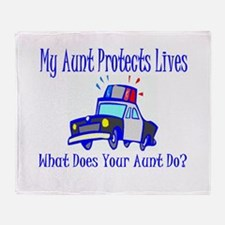 Police Protects Lives-Aunt Throw Blanket
