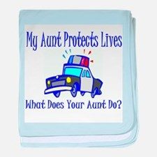 Police Protects Lives-Aunt baby blanket