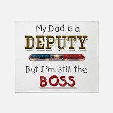 Dad is Deputy Throw Blanket