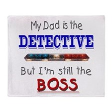 Dad is Detective Throw Blanket