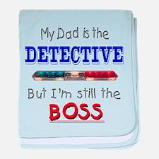 Dad is Detective baby blanket