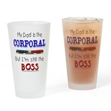 Dad is Corporal Drinking Glass