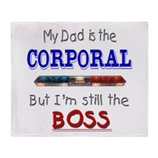 Dad is Corporal Throw Blanket