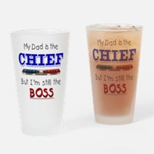 Dad is CHIEF Drinking Glass