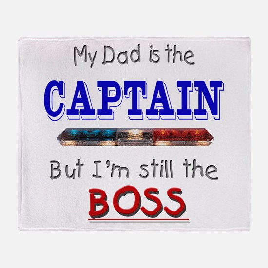 Dad is CAPTAIN Throw Blanket