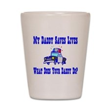 Police Saves Lives-Daddy Shot Glass